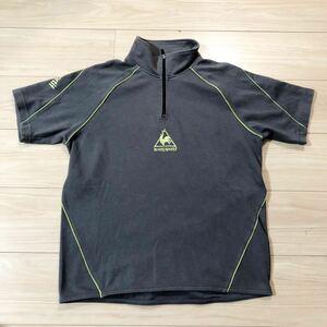 le coq sportif ルコック 半袖シャツ ゴルフウェア ハーフジップシャツ Sサイズ グレー 美品