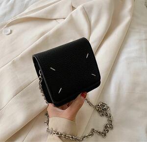 人気 韓国 トレンド ハンドバッグ 鞄 クロコダイル オルチャン ブラック ショルダーバッグ チェーンウォレット