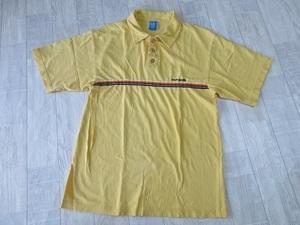 『 送料無料!』 ★ レア!《 USA製!》【 オーシャンパシフィック 】コットン 100% 黄色・イエロー ♪♪ サーフ半袖ポロシャツ・M