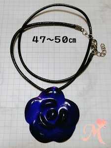 Handmade resin necklace rose