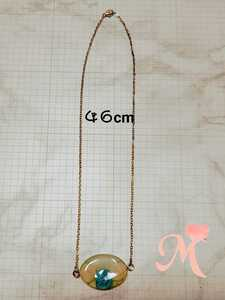 Handmade necklace rose resin