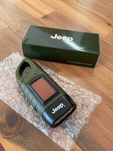 【新品・非売品】JEEP ジープ ノベルティ オリジナル ダイナモソーラーライト 非常用ライト