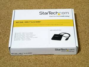 USB-C - HDMIマルチモニターアダプタ 2ポートMSTハブ StarTech.com MSTCDP122HD 未使用品