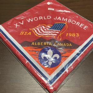 ボーイスカウト ネッカチーフ 第15回 世界ジャンボリー USA contingent アメリカ 派遣団 BSA 1983年