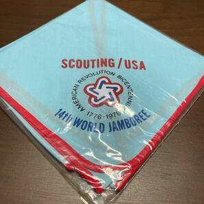 ボーイスカウト ネッカチーフ 第14回 世界ジャンボリー USA contingent アメリカ 派遣団 BSA 1976年