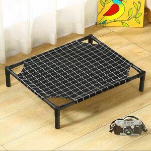 猫・小型犬用ベッド ハンモック(黒格子)