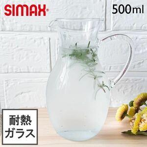 耐熱 ティーポット 500ml 耐熱ガラス デカンタ カラフェ デキャンター 花瓶