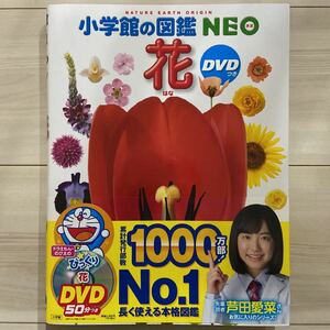 新品同様★小学館の図鑑NEO 花 ※本のみ、DVD無し