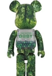 ★My First BE@RBRICK B@BY Forest Green Ver. 1000%★新品 メディコムトイ 千秋 ベアブリック
