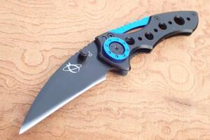 ★送料込み! ★MR-1 D21 コンパクトフォールディングナイフ サムスタッドモデル インナーロック 鎌形ブレード フレームハンドル狩猟