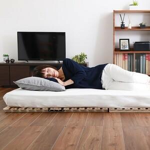 すのこベッド 2つ折り式 桐仕様(ダブル)【Coh-ソーン-】 家具 インテリア ベッド マットレス ベッド用すのこマット