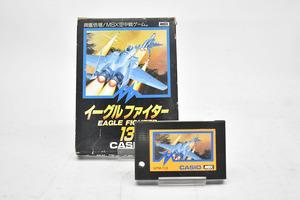 CASIO イーグルファイター 13 MSX ソフト GPM-113 [EAGLE FIGHTER][カシオ][当時物][昭和レトロ][空中戦ゲーム][ゲームソフト]M