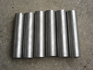 Kuromori pipe outer diameter 40mm length approximately 160mm meat thickness 1.88mm 6 pcs set