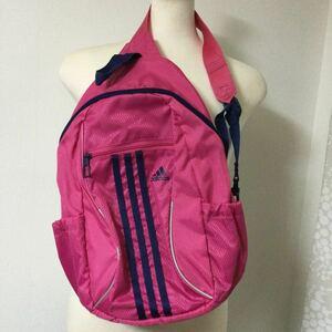 アディダス adidas キッズワンショルダーバッグ【F】ピンク/ナイトスカイブルー リュックサック 未使用品