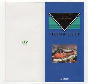 ★JR東日本★'95 鉄道の日記念 JA東日本 特急車両 オレンジカード★5枚組★台紙付★多穴使用済