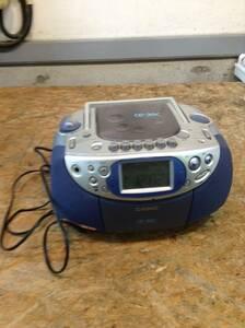 w210818-003A6 CASIO CDラジカセ CD-30C カシオ 通電確認済 自宅 カセット CD 平成 昭和