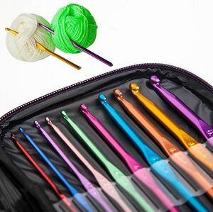 かぎ針22本セット 毛糸用10本+レース用12本 クロシェット 鍵針 毛糸編み 編み物 スターターセット