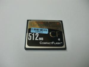 Unigen コンパクトフラッシュ 512MB Compact Flash フォーマット済み 送料63円(ミニレター) CFカード