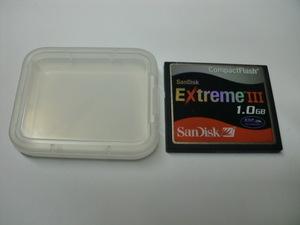 ケース付き SanDisk Extreme3 1GB コンパクトフラッシュ Compact Flash フォーマット済み 送料63円 (ミニレター) CFカード