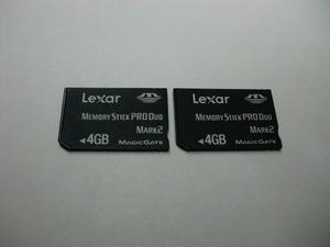 2枚セット Lexar MEMORY STICK PRO DUO 4GB 送料63円~ メモリーカード メモリースティックプロデュオ