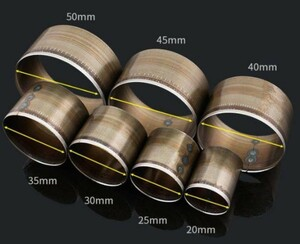 レザークラフト 型抜き ポンチ 丸型 7サイズ(20/25/30/35/40/45/50mm)