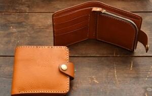小銭入れ付二つ折り財布レザークラフト用アクリル型セット