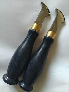 高級フチ捻 2本セット(1.0 1.5 2.0 2.5mm)ステンレスライン装飾レザークラフト道具