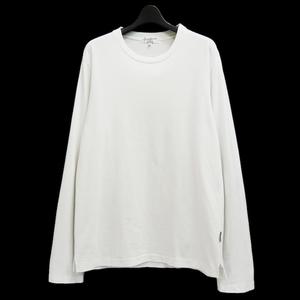 Yohji Yamamoto POUR HOMME 00's 定番 ロゴタブ ロングスリーブ Tシャツ プールオム カットソー ロンT ロゴ 白