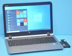 ★ 上位モデル ProBook 450 G3 ★ 高速SSD !! 大画面15.6 Core i5 6200U / メモリ8GB / 新品SSD 256GB / カメラ / Office2019 / Win10.