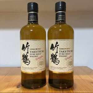 ニッカ NIKKA ウイスキー whiskey竹鶴 700ml 2本セット