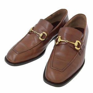 【本物保証】 美品 ドックマスターズ Dock MASTER'S ビジネスシューズ ローファー 高級革靴 靴 レザー 茶 ブラウン メンズ