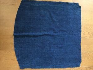 藍染 手染め ハギレ 69×60