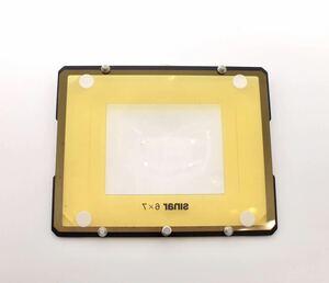 SINAR ジナー 461.76.000 4X5大判カメラ 用フレネルレンズ 6X7マスク付き
