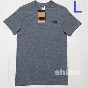 THE NORTH FACE ノースフェイス tシャツ 半袖 灰色 グレー シンプルドーム simple dome 海外Lサイズ