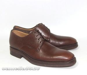 MANFIELD マンフィールド プレーントゥ ビジネスシューズ 茶色 ブラウン レザー 本革 6 サイズ 約24.5~25cm スペイン製 未使用 展示品