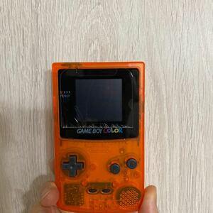 ゲームボーイカラー本体クリアオレンジ バックライトカスタム IPS液晶