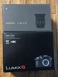 パナソニック ミラーレス一眼カメラ ルミックス GH4 DMC-GH4-K Voigtlander KOKUTON 17.5mm f0.95 2点セット