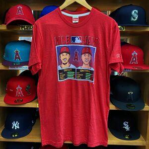 【XL】 MLB公式 HOMAGE 大谷翔平 マイクトラウト JAM プレーヤートライブレンド Tシャツ LA ロサンゼルス Angels エンゼルス USA正規品
