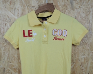 le coq sportif golf ルコック スポルティフ ゴルフ レディース ゴルフウェア 半袖 ポロシャツ Mサイズ 黄色 新品だけど汚れ有