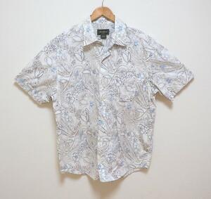 Eddie Bauer エディーバウアー 花柄シャツ 半袖シャツ L コットン100%