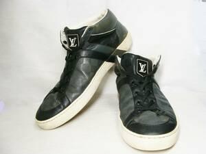 LOUIS VUITTON ルイヴィトン ◇ LV ダミエ アンフィニ レザー 皮 革 ミドル カット スニーカー シューズ 靴