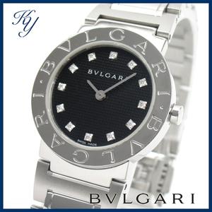 送料無料 3ヶ月保証付き 磨き済み 美品 本物 定番 人気 BVLGARI ブルガリ BB26SS ダイヤ入り レディース 時計