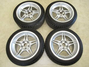 rare goods!?32*33GT-R size!ARROW ENTERPRISE Gewalt(ge bar to) SPOKE1 9J-17 off+17 pcd114.3/5H 235/45R17 with tire 4ps.@ Skyline