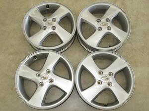 Subaru R2(RC1*2) original aluminium wheel 4.5J-15 off+45 pcd100/4H wheel only 4 pcs set studless for .R1, Stella etc. to diversion etc. .!