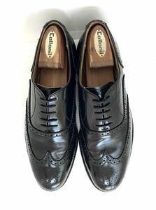 管理92 日本製 REGAL 24.5㎝ リーガル ビジネス シューズ ウイングチップ メンズ 革靴 ブラック レザー 黒 カジュアル