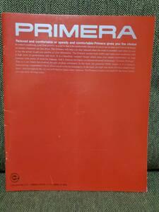 【稀少】NISSAN PRIMERA/プリメーラ カタログ 1992年9月現在版 (2.0Te/Ts/T4/Tm/2.0e GT/1.8Ci/Cu) ディーラー印無し