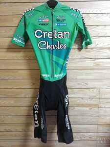 支給品 Veranda's Willems Crelan ワンピ エアロスーツ ワンピース スキン TT AERO SKINSUIT Road サイクルジャージ ワウト