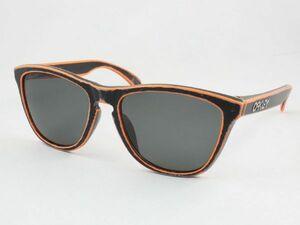 レンズ組換品 オークリー フロッグスキン 偏光サングラス OO9245 ダークグレー ブラック オレンジ/シルバー OAKLEY 日本製偏光レンズ