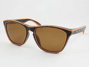 レンズ組換品 オークリー フロッグスキン 偏光サングラス OO9245 ダークブラウン ブラック オレンジ/シルバー OAKLEY 日本製偏光レンズ