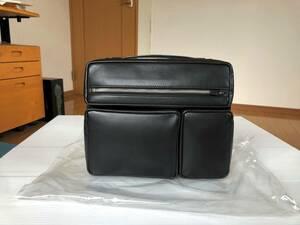 ポーター モジュール 本革 レザー ポーチ クラッチ バッグ ipad mini PC セカンド 旅行 出張 2層 スマホ バッグインバッグ タンカー 激美品